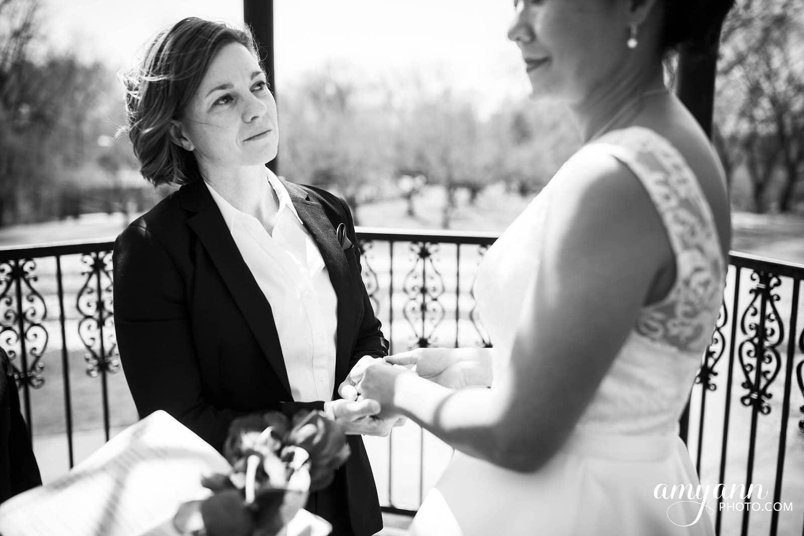 columbus ohio same-sex elopement park of roses wedding